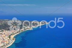 Aerial view on Zakynthos Stock Photos