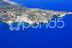 Aerial view on Zakynthos Stock Photos