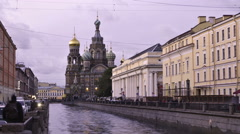 St. Petersburg time-lapse photography Cathedral on the Spilled Blood Stock Footage