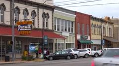 Establishing shot of downtown Selma, Alabama. Stock Footage