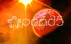 Alien planet up-close Stock Photos