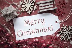 Nostalgic Decoration, Label With Text Merry Christmas Kuvituskuvat