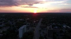 Sunset / Whitman St (Rockford, Illinois) Stock Footage