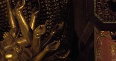 Buddhist bronze statue in Bai Dinh Pagoda, Vietnam Stock Footage