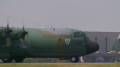 Video of a large military cargo plane Casa C-295 Stock Footage
