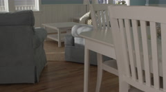 Interior of beautiful and spacious Beach House Stock Footage