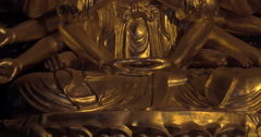 Buddhist statue of Quan Am in Bai Dinh Temple, Vietnam Stock Footage