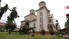Outdoor dolly shot of orthodox church Stock Footage