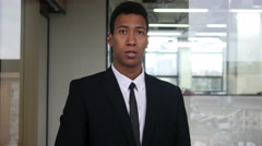 Angry Black Businessman Shouting in Office Stock Footage
