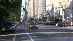 Quiet Morning On NYC Street Stock Footage