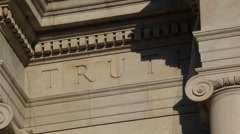 The Word Truth Is In Stone Stock Footage