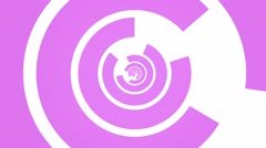 Geometric abstract rotating circle motion background loop pink white Stock Footage