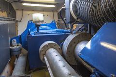 Inside of Wind Turbine Nacelle Stock Photos
