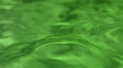 Slow motion green water texture Stock Footage
