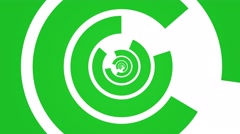 Geometric abstract rotating circle motion background loop green white Stock Footage