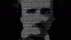 Edgard Allan Poe Portrait Animation Stock Footage