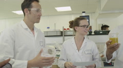 4K Young student chemistry lecture in science Lab Stock Footage