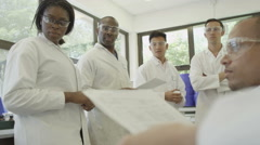 4K Group meeting for young scientists Stock Footage