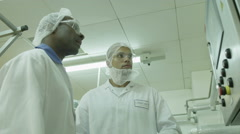 4K, Scientists in pharmaceutical research factory Arkistovideo