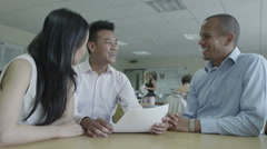 4K Office staff in business meeting in modern office Stock Footage