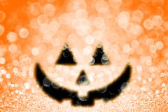 Halloween Pumpkin Jack O Lantern Party Invite Background Stock Photos