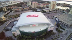 Flyover Amalie Arena Stock Footage