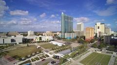 Downtown Tampa Curtis Hixson Park Stock Footage