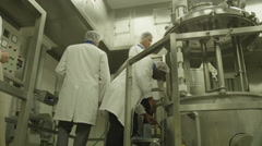 4K Scientists in  research factory. Stock Footage