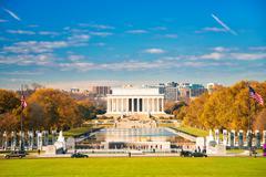 Lincoln memorial in Washington DC Stock Photos