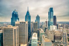 Downtown skyline of Philadelphia USA Kuvituskuvat