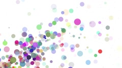 White with colored bubbles - Motion background video loop HD Stock Footage