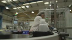 4K Pharmaceutical manufacturing facility factory. Stock Footage