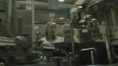 4K Pharmaceutical manufacturing facility factory Stock Footage