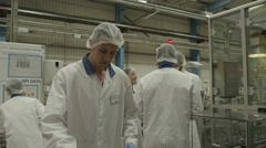 4K Pharmaceutical manufacturing facility. Stock Footage