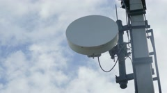 Radio satellite dish antenna communication system video Stock Footage