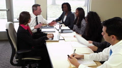 Office workers in a meeting Stock Footage