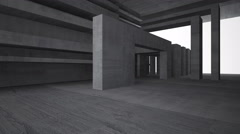 Empty dark abstract concrete room interior. Stock Footage