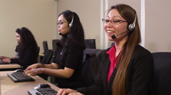 Office of telemarketers Stock Footage