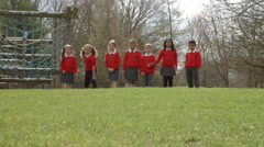 Elementary School Pupils Enjoying Breaktime Shot On R3D Stock Footage