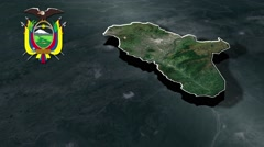 Tungurahua with Coat Of Arms Animation Map Stock Footage