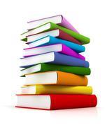 Coloured books isolated Stock Illustration