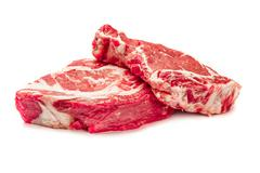 Uncooked organic shin of beef meat Stock Photos