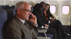 Portrait of business traveler Stock Footage