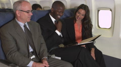 Portrait of business travelers Stock Footage