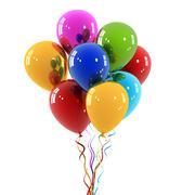 Coloured balloons isolated Stock Illustration