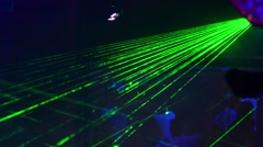 Laser and light show in the night club to the party Stock Footage