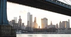 World Trade Center - sunset - New York City - summer 2016 - 4k Stock Footage