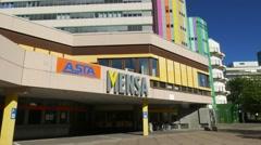 4K Duisburg Essen University College academy in Essen NRW Germany Europe Stock Footage