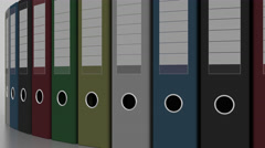 Rotating multicolored binders. 4K seamless loopable animation Stock Footage