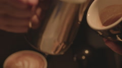 Latte Art Close Up Stock Footage